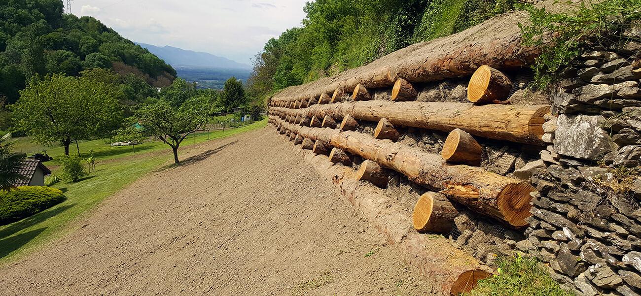 Mur de soutènement bois Moretel