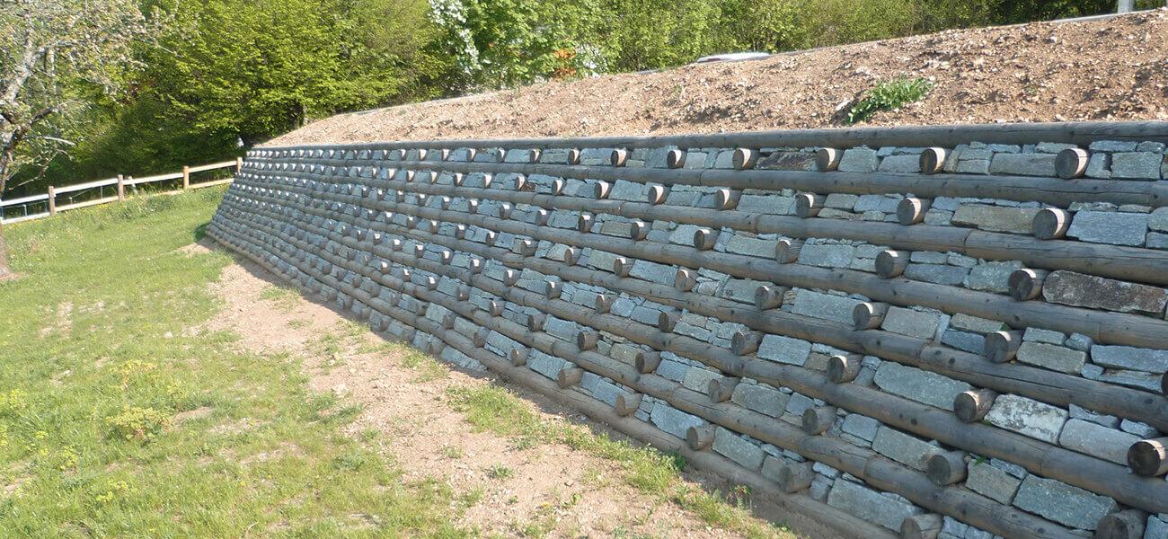 Mur bois en kit