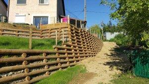 mur bois soutemenent