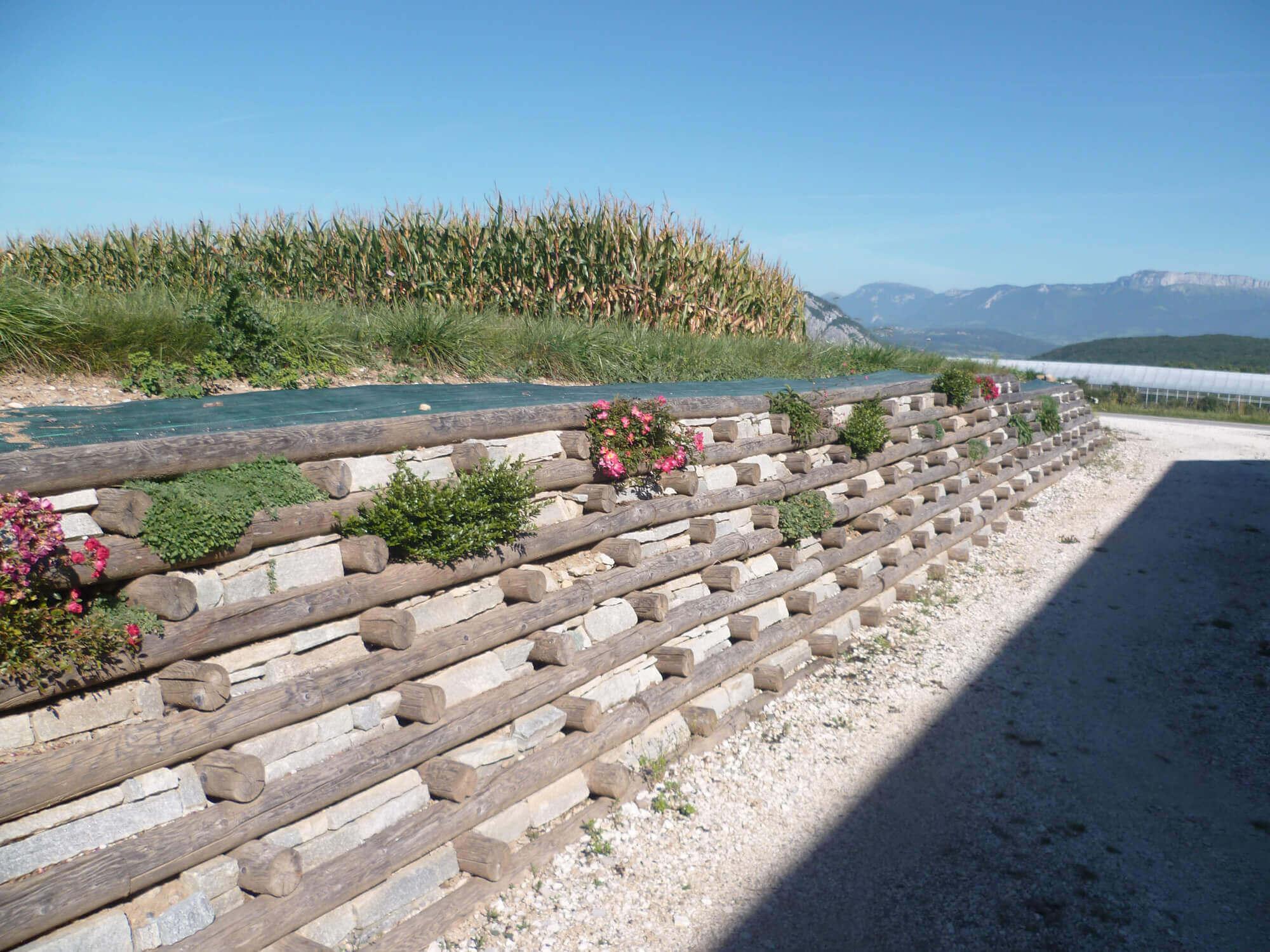 Jardin En Pente Comment Faire solution technique pour soutenir un talus : le mur bois
