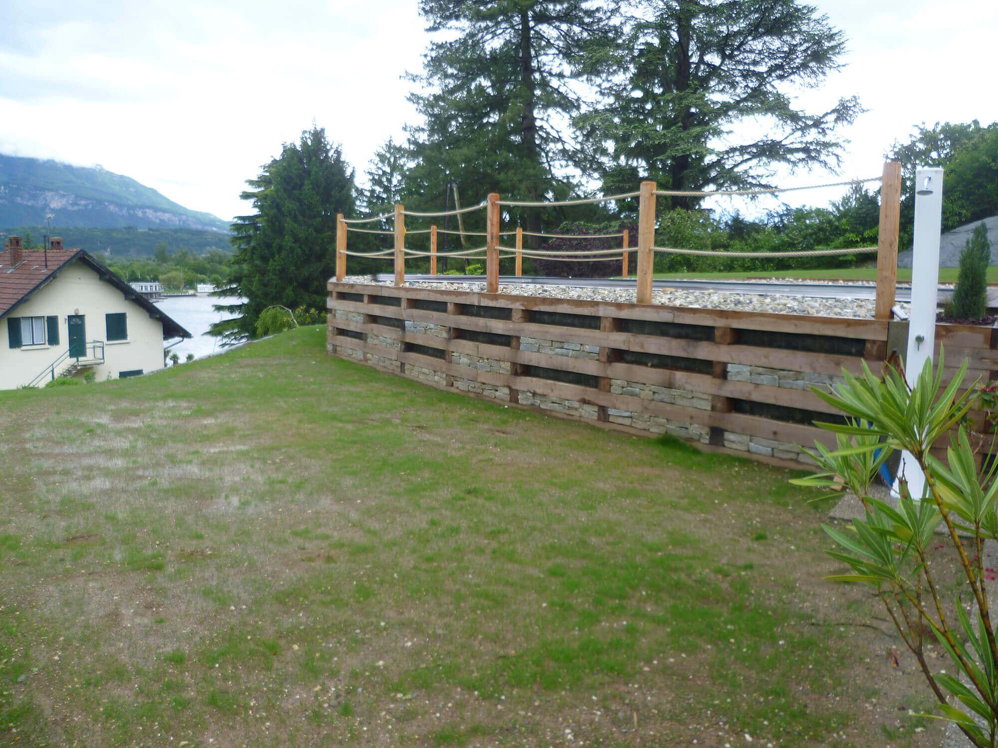 Mur de soutenement terrasse for Mur de terrasse en bois