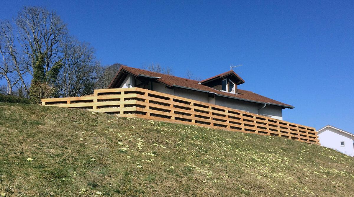 mur soutenement bois meleze Dynamique Environnement # Mur De Soutenement En Bois Traité