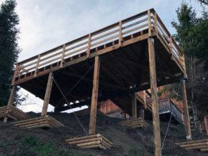 terrasse sur pilotis la muraz
